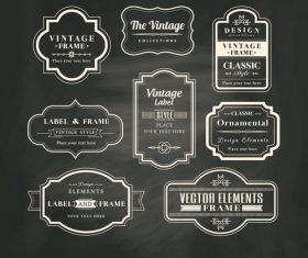 Black background vintage frame vector
