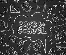 Black dialog back to school vector