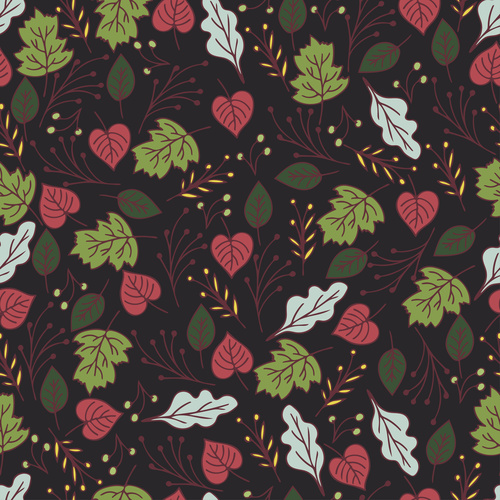 Black drawn background Hand drawn Floral vector