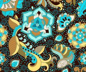 Blue Floral seamless pattern vectors