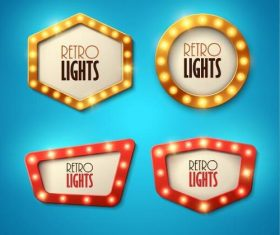 Blue background colored lights vector
