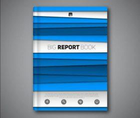 Blue book portfolio vectors