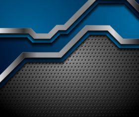 Blue metal tech background vector