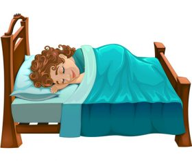 Boy sleep vectors