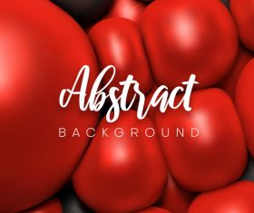 Bright red geometrical spheres backgrounds vectors