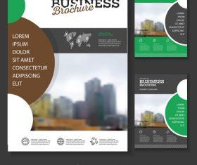 Brochure cover design vector 05