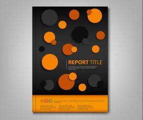 Brochures book abstract circles design template vectors