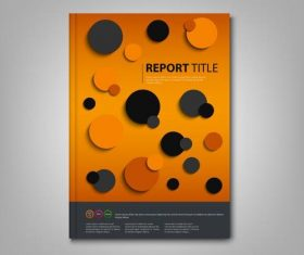 Brochures book abstract circles template vectors