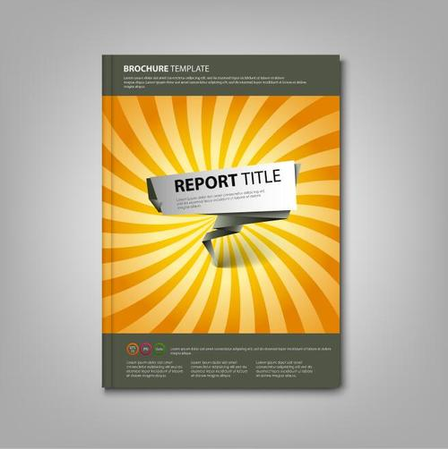 Brochures book abstract pointer template vectors