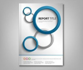 Brochures book blue gray rounds template vectors
