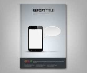 Brochures book with smart phone template vectors