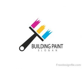 Building Paint logo creative design vector