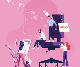 Businessman Recruitment concept vectors