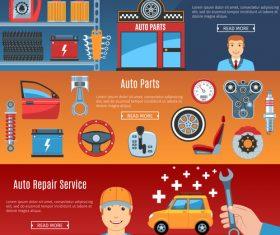 Car parts banner vector
