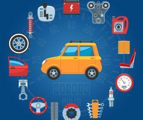 Car parts concept vector