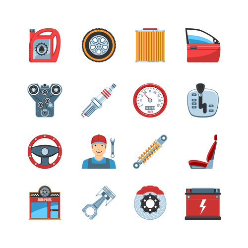 Car parts icon vector