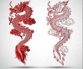 Cartoon Chinese dragon vector
