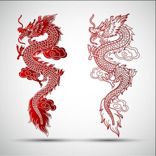 Cartoon Chinese dragon vector