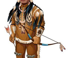 Cartoon Native American vectors
