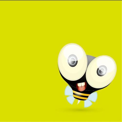 Cartoon big eyes bee vectors