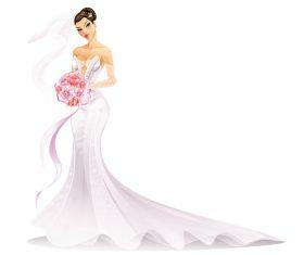 Cartoon bride vectors