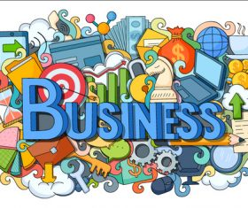 Cartoon business element illustration vectors