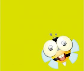 Cartoon cute bee vectors