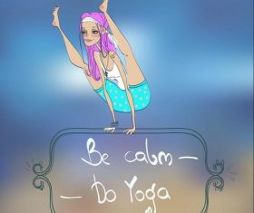 Cartoon do yoga vector