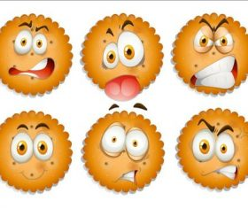 Cartoon facial expression vectors