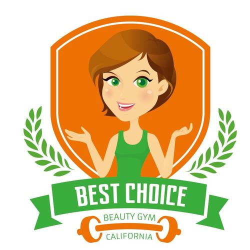 Cartoon female beauty fitness propaganda vectors