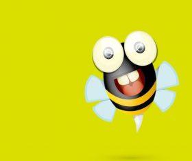 Cartoon flying bee vectors