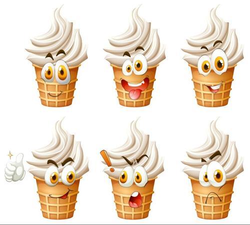 Cartoon ice cream expression vectors