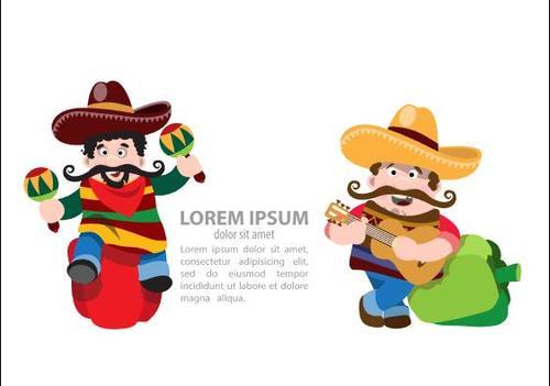 Cartoon mexican pepper festival vector