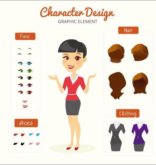 Cartoon professional character design vectors