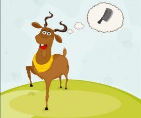 Cartoon sacrifice goat vector