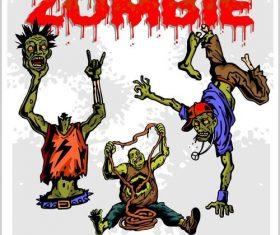 Cartoon zombie vectors 02