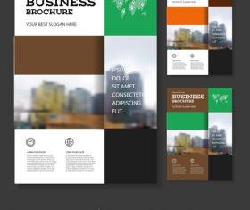 Checker Brochure cover design vector