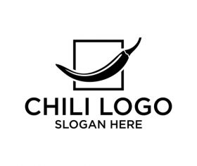 Chili logo creative design vector