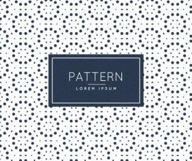 Circle black dots creative pattern background vector