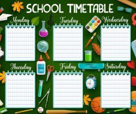 Class schedule design vectors