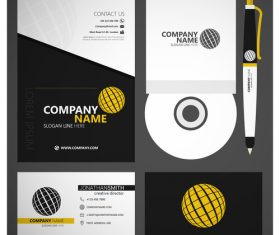 Classic corporate identity template vector