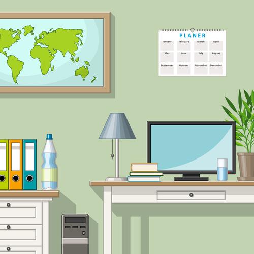 Classic living room illustration vectors