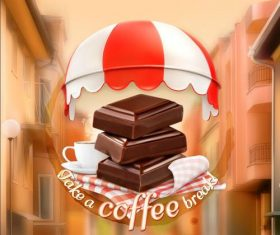 Coffee and chocolate cover vector