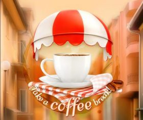 Coffee cover vector