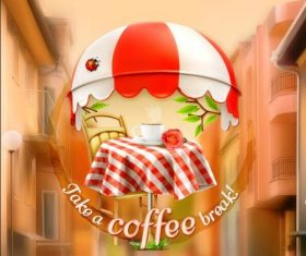 Coffee shop cover vector