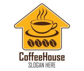 Coffee shop logo label vector