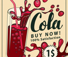 Cola flyer vector material