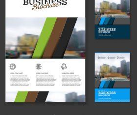 Color diagonal strip Brochure cover design vector