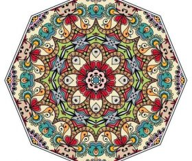 Colored mandala pattern ornament vector