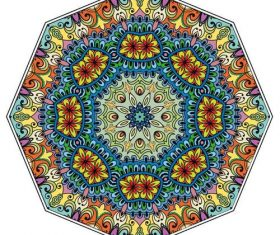 Colorful Mandala geometric round ornament vector